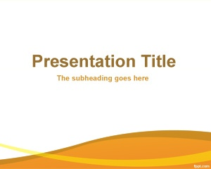 Free Organization PowerPoint template background with orange and white background color for presentations