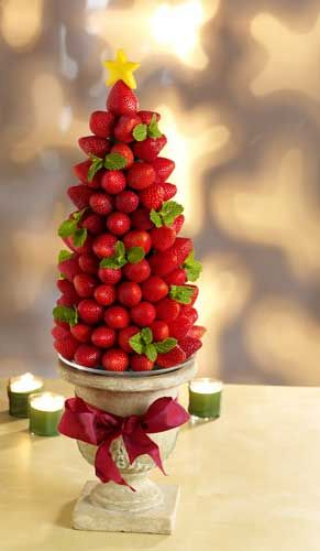 The Very Berry Holiday Tree—Make a beautiful holiday centerpiece that be eaten during or after a party!