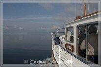 Flaute - ideales Reisewetter für ein Motorboot