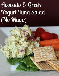 Avocado and greek yogurt tuna salad recipe. NO MAYO! 117 calories and 3 weight watchers points plus