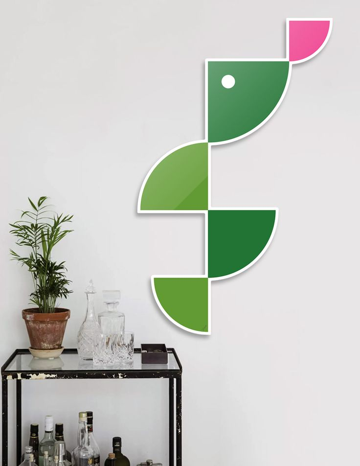 #DieCut #Aluminum #Print of #Geometric #Animals.  #Home #Decor Series by Vaggelis Arabatzoglou!  Available in a variety of #Art #Prints on #Curioos! #2dart #quadrant #geometric #design #homedecor #kidsroom #livingroom #lifestyle #abstract #graphicdesign #vectorart #illustration #contemporary #reptiles #snakes #minimal