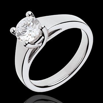 bijouterie Bague sur mesure 30093 - Solitaire Diamant Or blanc 1 carat