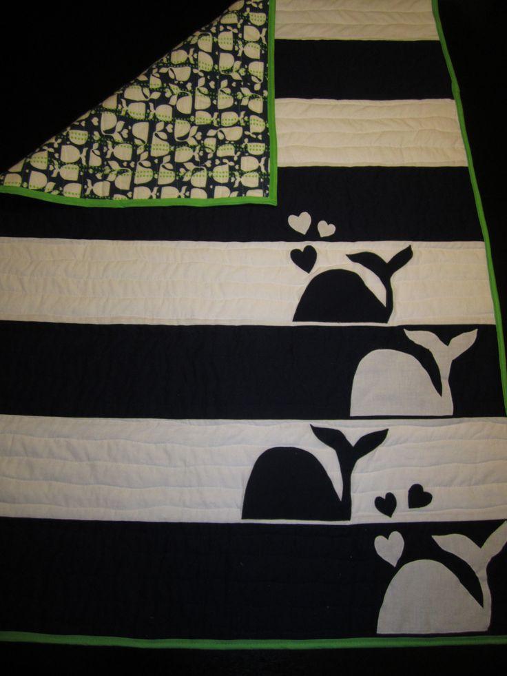 03/2013 Appliqued Whale Quilt- @Barbara Acosta Acosta Acosta Radtke
