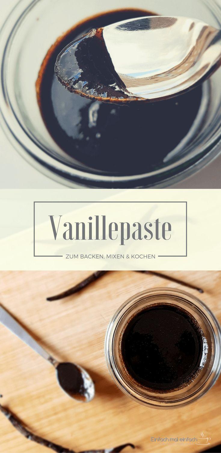Vanillepaste entfaltet nicht nur die Kraft der Vanilleschote in Kuchen oder Joghurt, Keksen, Sirup und Getränken. Sie ist auch ein edles Geschenk aus der Küche. Verwende sie überall da, wo Du Vanillezucker verwenden würdest. Das Rezept funktioniert nicht nur mit dem Thermomix oder der Kenwood Cooking Chef, sondern auch in einem starken Mixer. #vanille #plätzchen #weihnachten