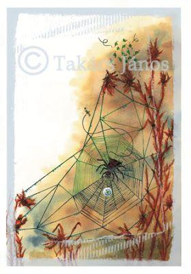 #illustration #spider by Janos Takacs