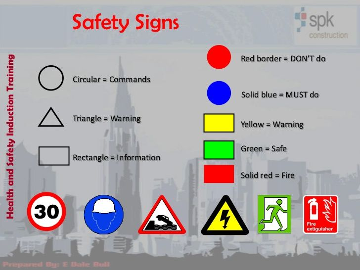 Safety SignsHealth and Safety Induction Training                                                                 Red borde...