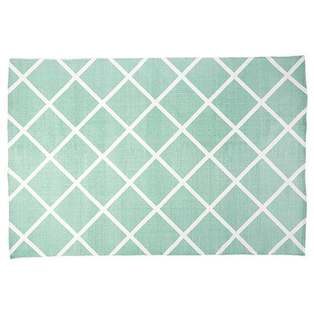 'Beach Luxe' cotton floor rug in Diamond Print, $39/1.2m x 1.8m, Target.