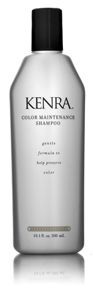 Kenra Color Maintenance Shampoo & Conditioner & Kenra Silkening Gloss.  I am a commitment-phobe when it comes to sticking w/ the same shampoo & conditioner so this brand is the flavor of the month.  Scrumptious scent.  Conditioner seems thin consistency but makes hair surprisingly soft.  Yum yum YUM!