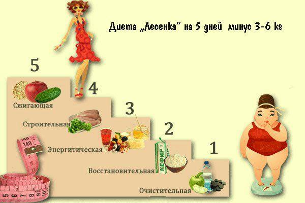 Суперэффективная диета «Лесенка»: 5 дней — 5 ступеней. Результат виден и без весов!   TutVse.Info