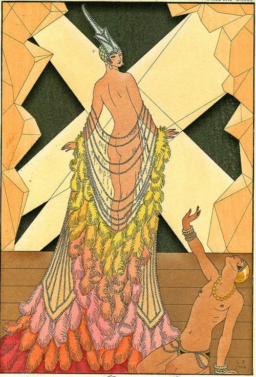 George Barbier, L'Orgeuil, 1925Art Nouveau, Fashion Drawing, Art Deco, Beautiful, Art Deco Fashion, Fashion Illustration, George Barber, Dead Sinful, Artdeco