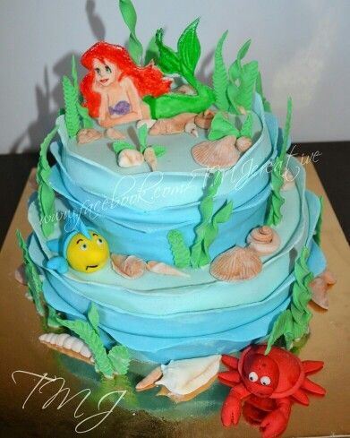 My Ariel birthday cake./Ariel szülinapi tortám.