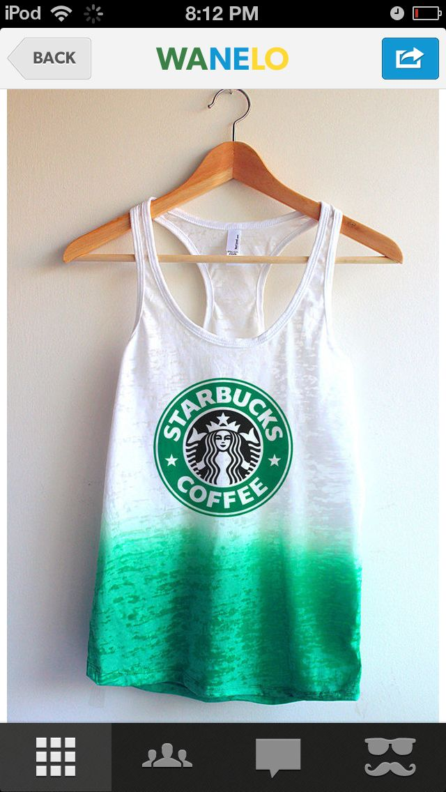 Starbucks shirt! I will be getting one of these.  Online shopping here I come / I will be a walking bill board idc