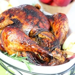 Maple Glazed Spicy Apple Turkey and more of the best paleo Thanksgiving recipes on MyNaturalFamily.com #paleo #thanksgiving