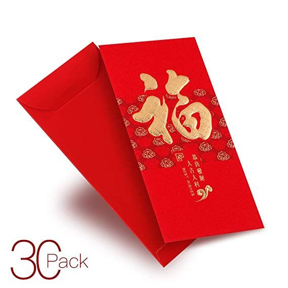 Chinese New Year Red Envelopes Chinese Red Packets Hong Bao Gift Money Lucky Money Envelopes For New Year Birthday We Money Gift Money Envelopes Red Envelope