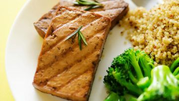 If you like tofu, you will love this recipe, but if you don't like it, you will have to give tofu another change, and try this wonderful recipe! This tofu which is infused with a coffee and rosemary marinade will definitely surprise you! It's simple to make, and super delicious! #vegan #recipes #veganfood #tofu #marinade #dinner