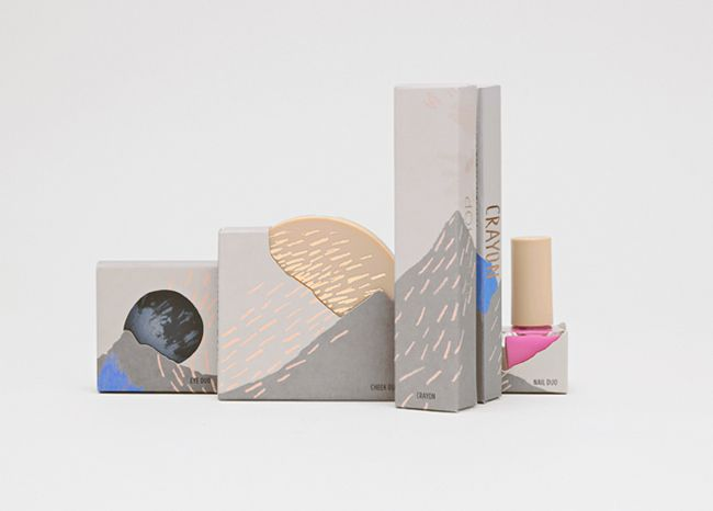 Gorgeous packaging for Top Shop Cosmetics inspired by sandstorms.