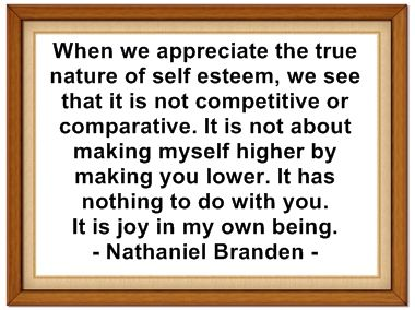 an analysis of a womens selfesteem by nathaniel branden In the art of living consciously, branden gives us the tools with which to draw  in the art of living consciously, dr nathaniel  and a woman's self-esteem.