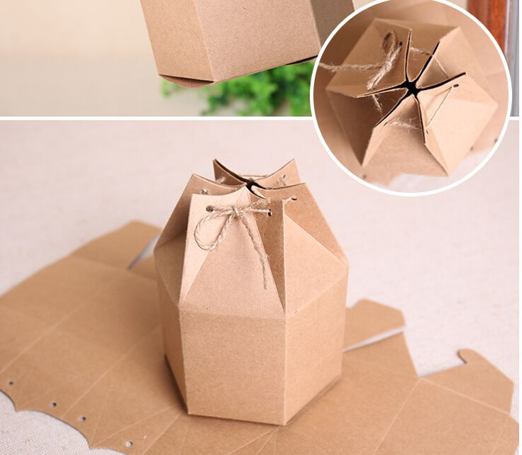 9*11*11CM Creative kraft gift boxes,paper cardbaord Hexagonal box-in Packaging Boxes from Industry & Business on Aliexpress.com | Alibaba Group