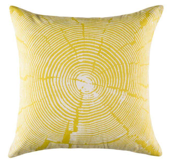Kas Wood Slice 50x50cm Filled Cushion Citrus