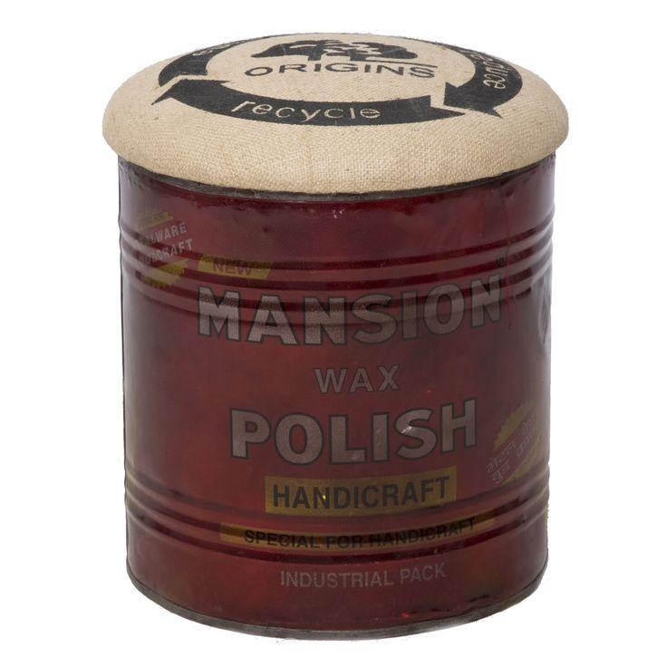 Pouf con contenitorein ferro etessutostile vintage.