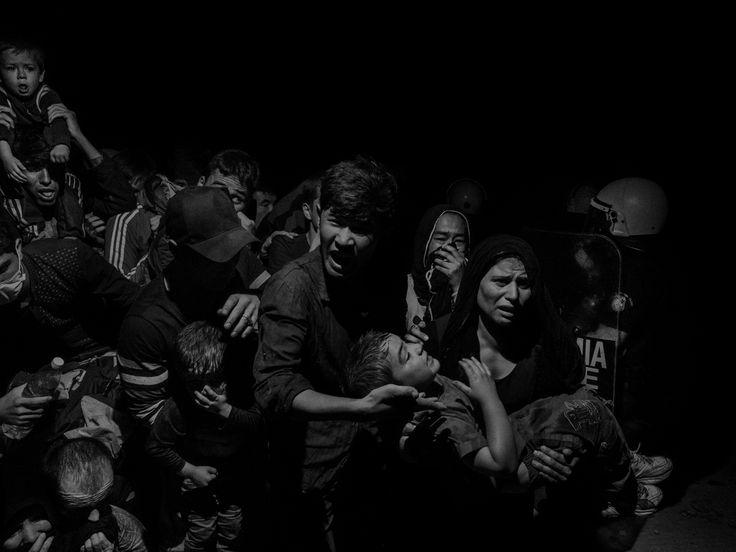 Scene #60410. Profughi e migranti arrivano sull'isola di Lesbo, Grecia, 2015. - (Alex Majoli, Per gentile concessione della galleria Howard Greenberg)
