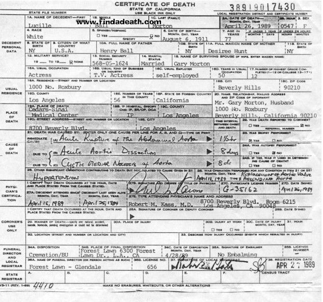 death certificate application form free