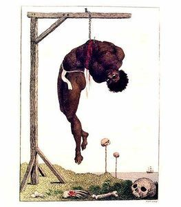 A Negro Hung Alive by the Ribs to a Gallows - (William Blake)