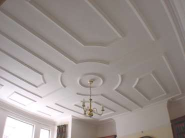 Edwardian plaster ceiling mouldings
