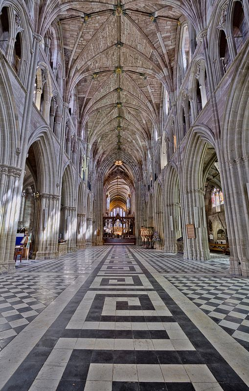 Here is a photograph from Worcester Cathedral.  Located in Worcester, Worcestershire, England, UK.