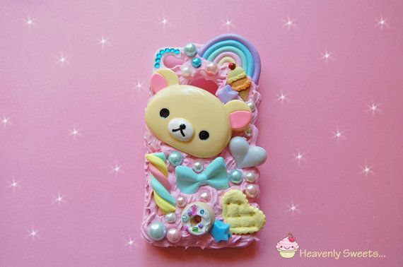 Kuma Bear Whipped Cell phone case, decoden, kawaii, iphone