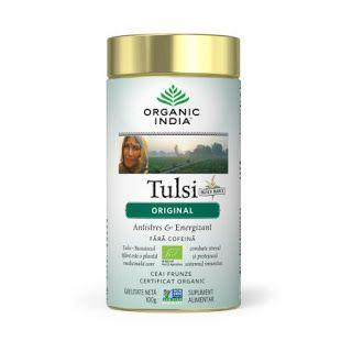 Ceai organic Tulsi Busuioc sfant antistres energizant fara cofeina fara gluten recomandat de Ligia Pop https://totuldespreceai.blogspot.ro/2017/09/ceai-organic-tulsi-busuioc-sfant.html