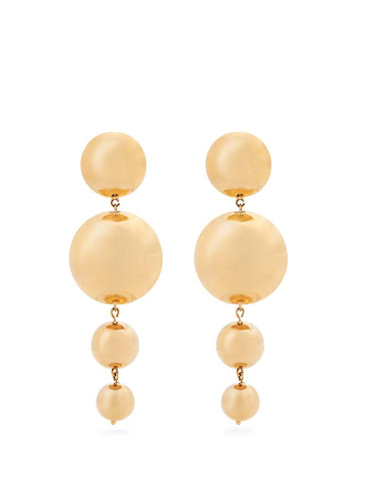 Stud-Embellished Wooden & Bead Earrings Vanda Jacintho Best Buy mUHl7q
