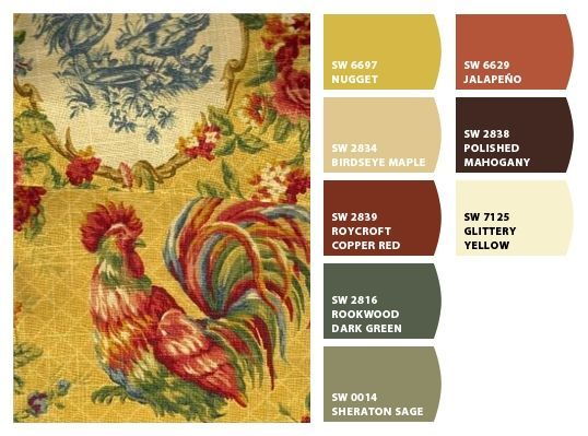 Country French design & pallette of colors....from Chip It! by Sherwin-Williams - forthehome