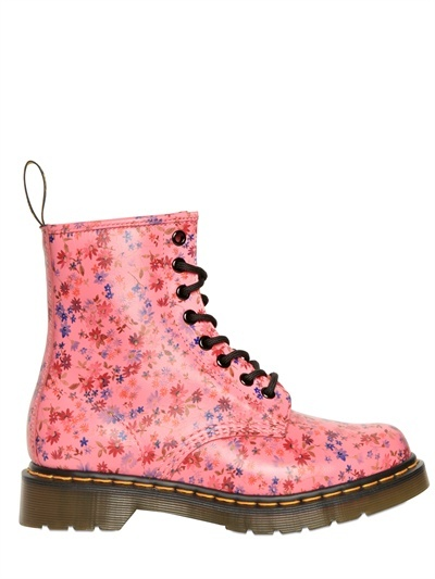 DR.MARTENS - 30MM FLORAL PRINTED CALF BOOTS - LUISAVIAROMA - LUXURY SHOPPING WORLDWIDE SHIPPING - FLORENCE