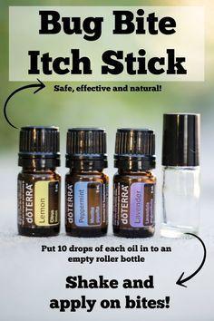 Easy homemade bug bite anti itch stick recipe using essential oils!                                                                                                                                                                                 More