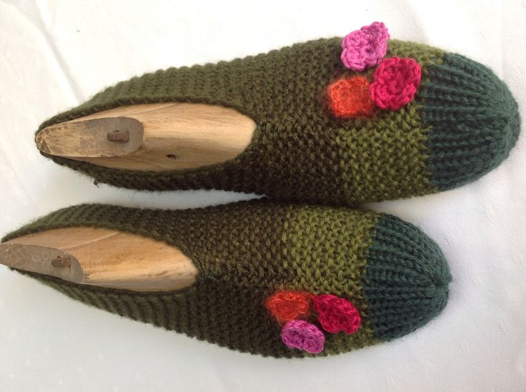 Gebreide pantoffels