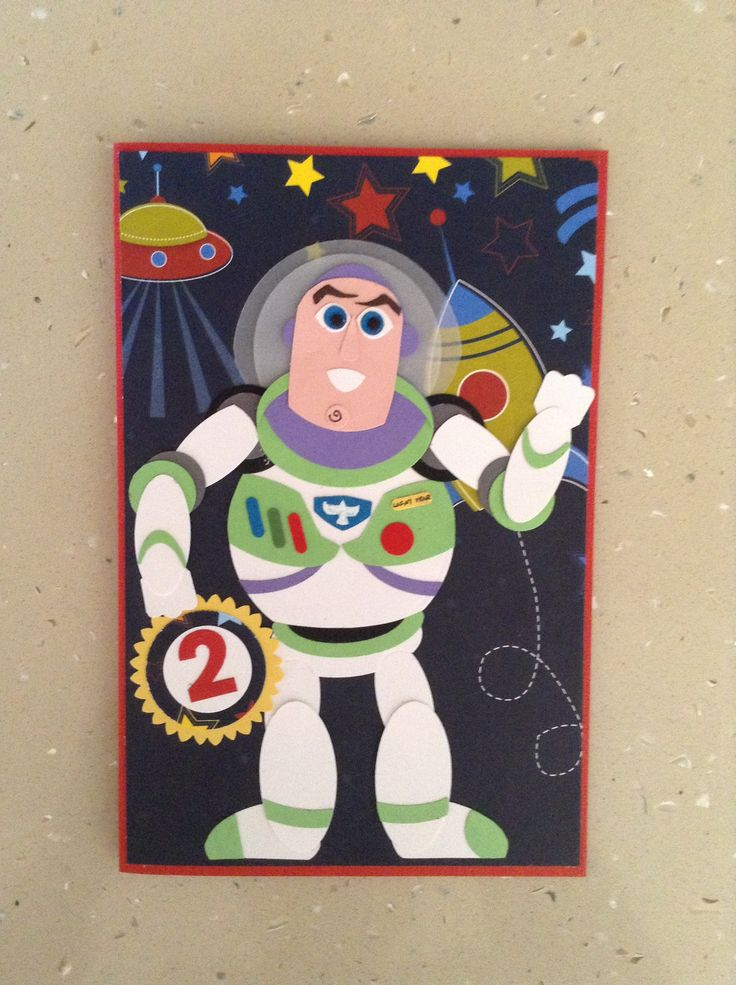 55 best Cards TVCartoon Characters images – Buzz Lightyear Birthday Card