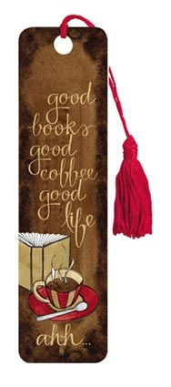 Coffee And Book - Tasseled Bookmark