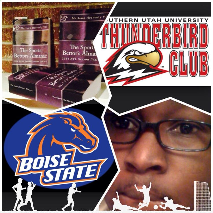 12/14/14 NCAAM #SouthernUtah #Thunderbirds vs #BoiseSt #Broncos (Take: Southern Utah  21) SPORTS BETTING ADVICE On 99% of regular season games ATS including Over/Under The Sports Bettors Almanac available at www.Amazon.com TIPS ARE WELCOME : PayPal - SportyNerd@ymail.com Marlawn Heavenly VII #NFL #MLB #NHL #NBA #NCAAB #NCAAF #LasVegas #Football #Basketball #Baseball #Hockey #SBA #401k #Business #Entrepreneur #Investing #Tech #Dj #Networking #Analytics #HipHop #MYTH7 #TBE