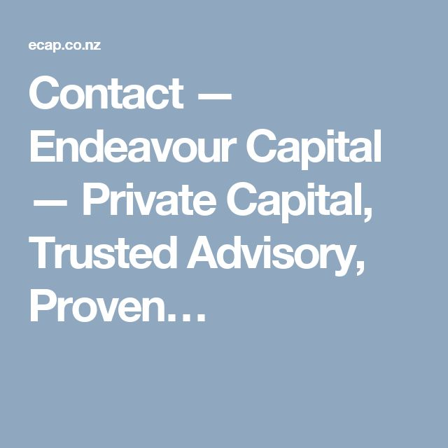 Contact — Endeavour Capital — Private Capital, Trusted Advisory, Proven…