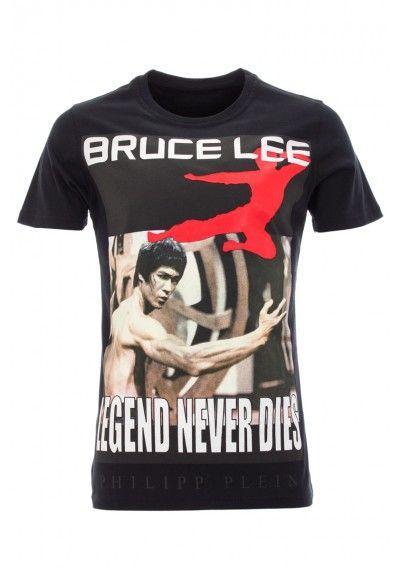 Philipp Plein - 'Kung fu Man' T-Shirt Black Front (SS14-HM341770)
