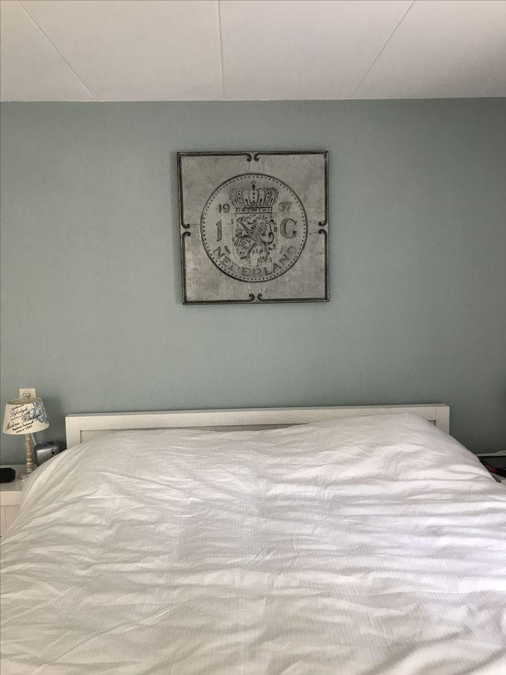 Slaapkamer Gulden van blik, Bed 180x220 van Ockhuijzen in Leerdam, dekbedovertrek Ikea