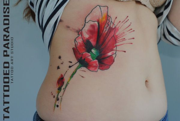 Watercolor Flower  Abstract/Watercolor Tattoos Pinterest