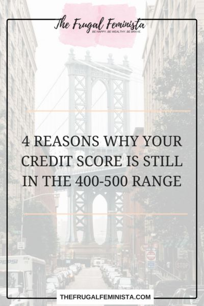"Alright. Its time to stop sugar coating your credit score. For months you have been trying to figure out why your score is in the 400-500 range. You ask yourself ""Is There Hope?"" or ""Can I at least get my score to 590 or 600. I am here to tell you YES! The only way to find the solution to a problem, is to first admit that you have a problem and to point out what the problem is. Here are 4 Reasons Why Your Credit Score Is Still In The 400-500 Range"