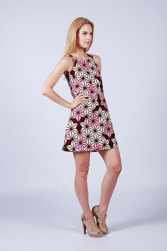 Aline robe robe robe Batik cire robe imprimée jolie par COLUFashion