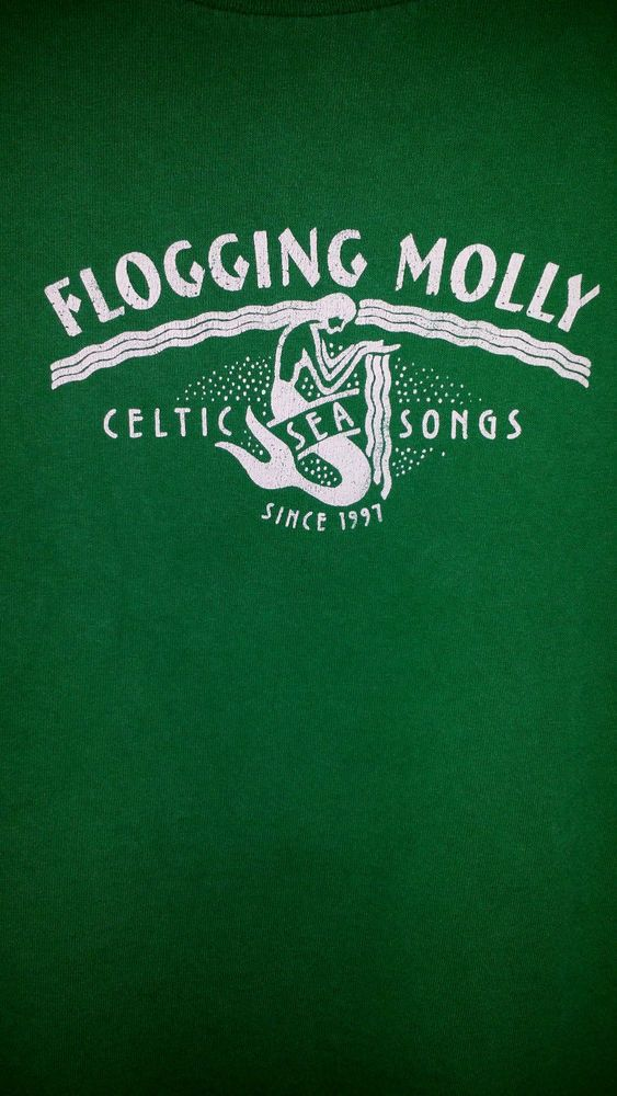 FLOGGING MOLLY T-shirt Celtic Sea Songs Out Of Print Vintage Mermaid Size Medium #Unbranded #GraphicTee