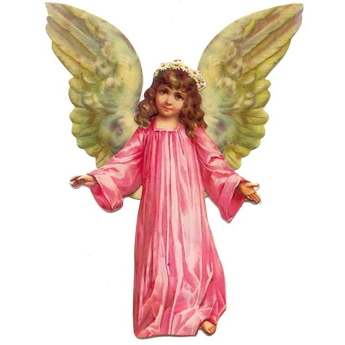 Large Winged Angel Standing Easel Card