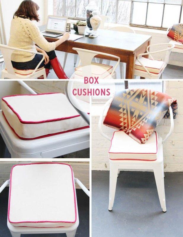 Sewing box cushions