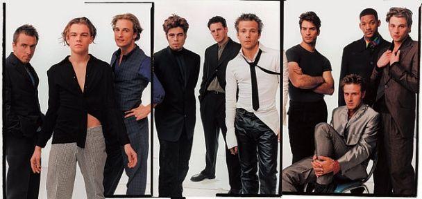 "APRIL 1996: ""BOYS' TOWN"" Tim Roth, Leonardo DiCaprio, Matthew McConaughey, Benicio Del Toro, Michael Rapaport, Stephen Dorff, Johnathon Schaech, David Arquette, Will Smith, and Skeet Ulrich."