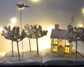 The Tree of Love - Book Art - Book Sculpture - Altered Book Love is in the air. A very special gift to your love ones. Valentine´s gift.    The